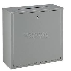 """Inter-Office Mailbox Large 18""""W X 7"""" D X 18"""" H by Global Industrial. $45.95. INTER-OFFICE MAILBOXES Large Mailbox Inter office mailboxes can be used as mail collection boxes for all out-going office mail. Office mailboxes deter unauthorized access to company mail and posting machine. Helps keep private inter-office correspondence confidential. Made using durable steel with a gray powder coat finish. Includes cylinder lock with 2 keys (keyed alike) and a full length..."""