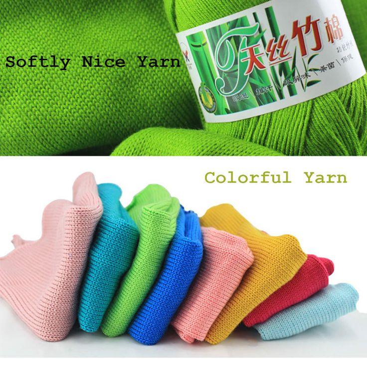 Aliexpress.com: Comprar Popular al por mayor de Colores de Hilos de Punto De Algodón Súper Suave Y Natural de Bambú de cotton yarn supplier fiable proveedores en urgod store