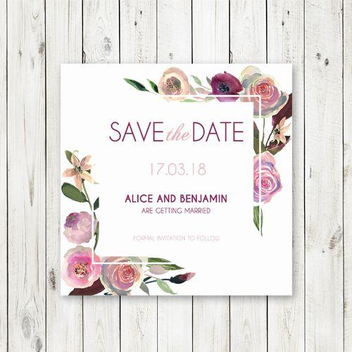 Save the Date with a Berries and Cream theme #savethedate #australia #plum #pinks #berriesandcream #roses #weddings #thehellobureau