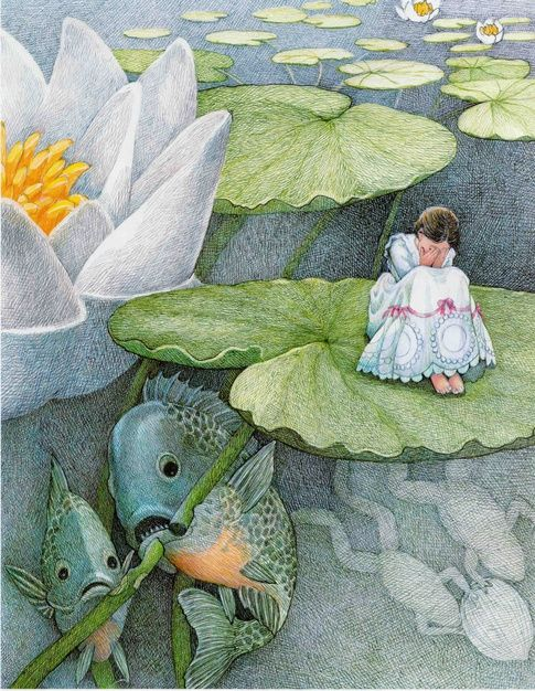 Susan Jeffers' Illustrations for 'Thumbelina' - Book Artists and Their Illustrations - Quora
