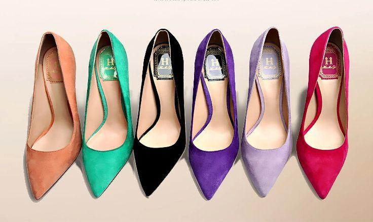 Дешевое 2015 женские весенние туфли красные свадебные туфли Большой размер острым носом туфли на высоком каблуке тонкие каблуки обуви двориков 32 33, Купить Качество Туфли непосредственно из китайских фирмах-поставщиках:   ДЕТАЛИ ПРОДУКТА                                           Есть два высоты каблука доступны вам