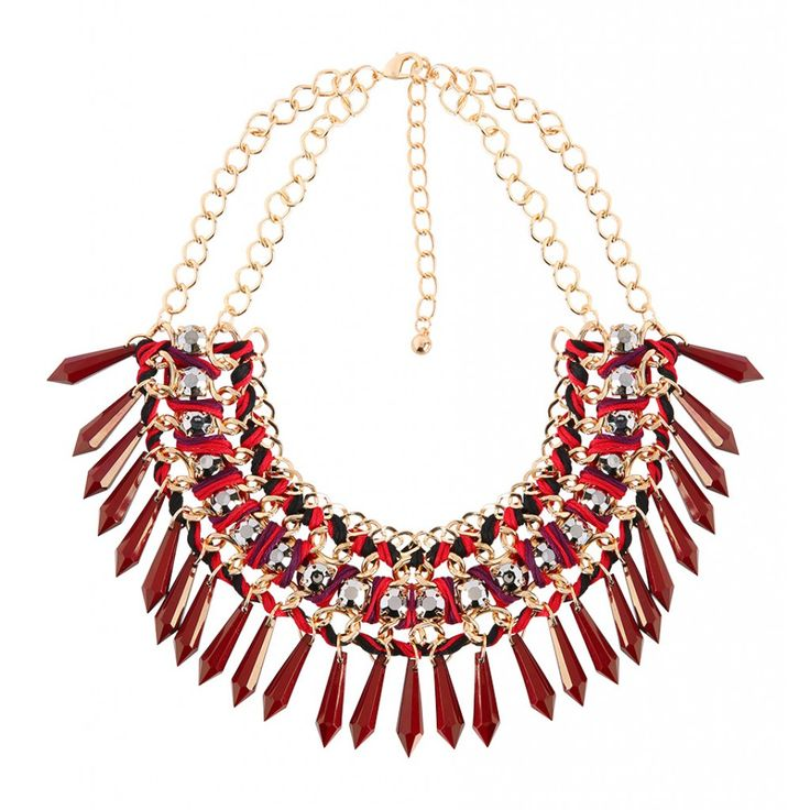 Rode statement ketting http://www.loavies.com/fashion-nieuw/bordeaux-statement-necklace.html
