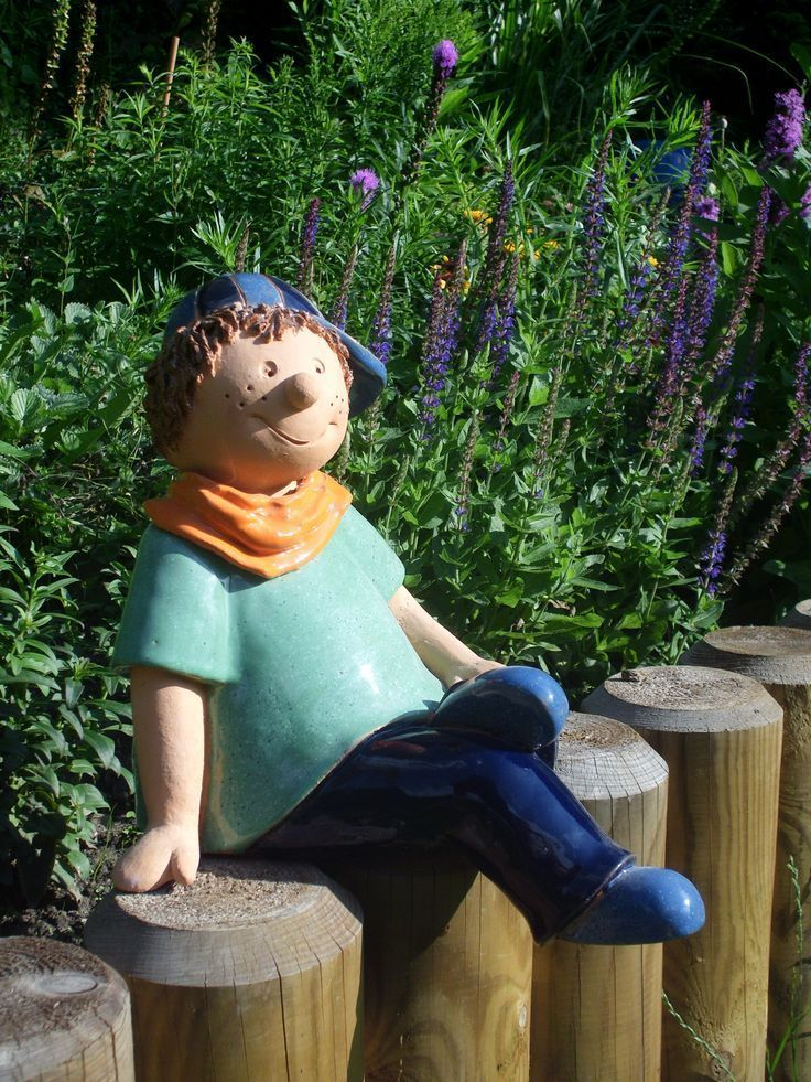 Ceramics, Figurine, Garden Ceramics, Garden Decoration, Garden #figur #garten #gartend …  – Ton Figuren