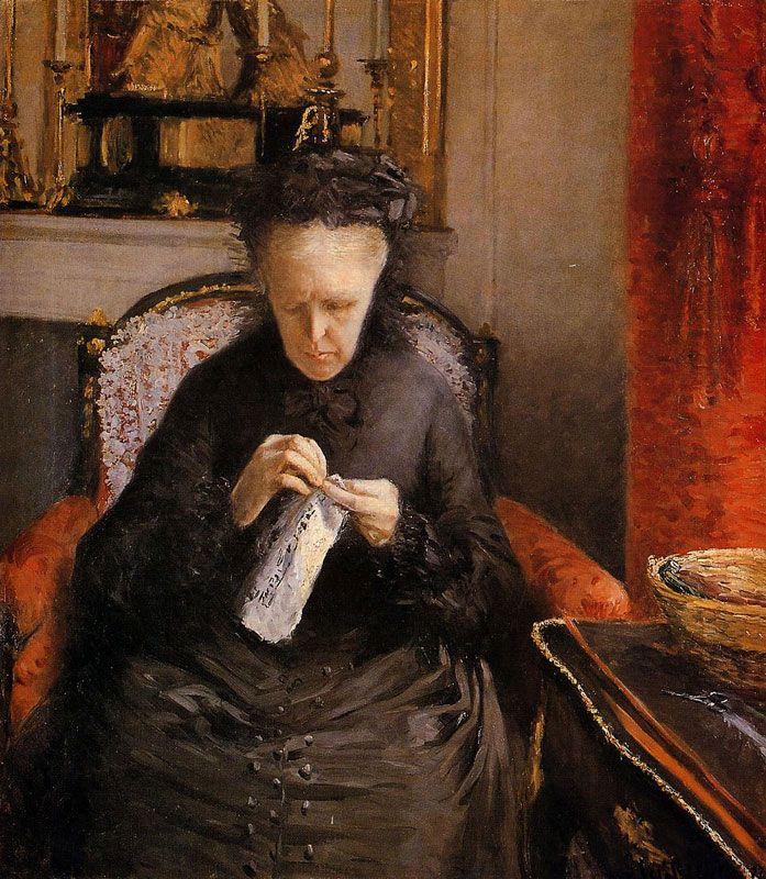 Gustave Caillebotte - Portrait de Madame Martial Caillebotte
