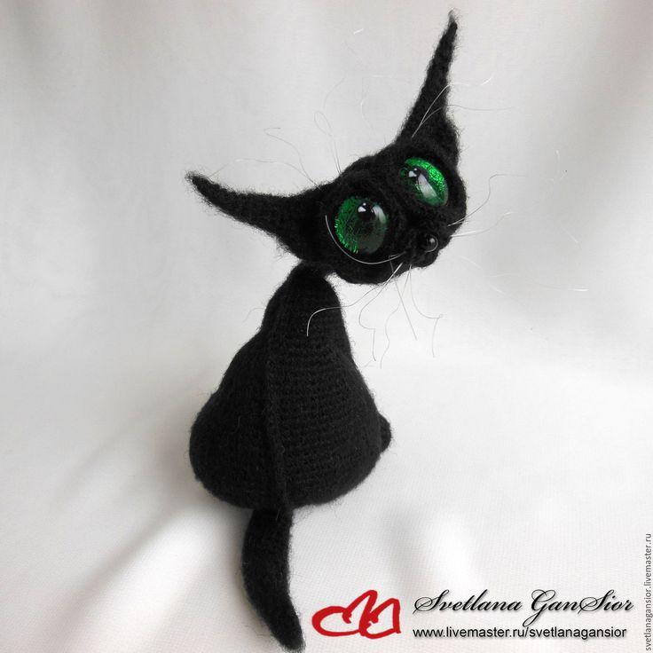Купить Черный кот (резерв Suzanne) - черный, зеленые глаза, кот, кошка, киска