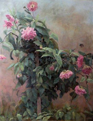 Dahlia. Part 1. Oil on canvas 130x100cm. 2011.