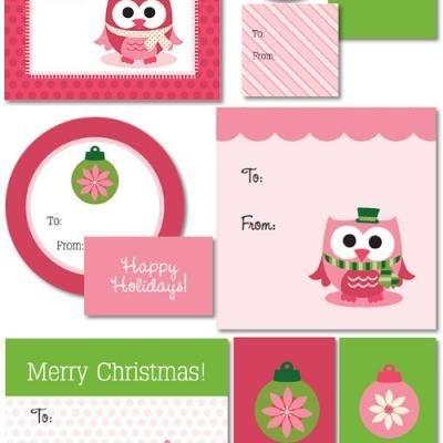 Owl gift tag printablesHoliday Gift, Printables Christmas, Christmas Printables, Printables Tags, Christmas Tags, Owls, Christmas Gift Tags, Free Printables, Christmas Gifts