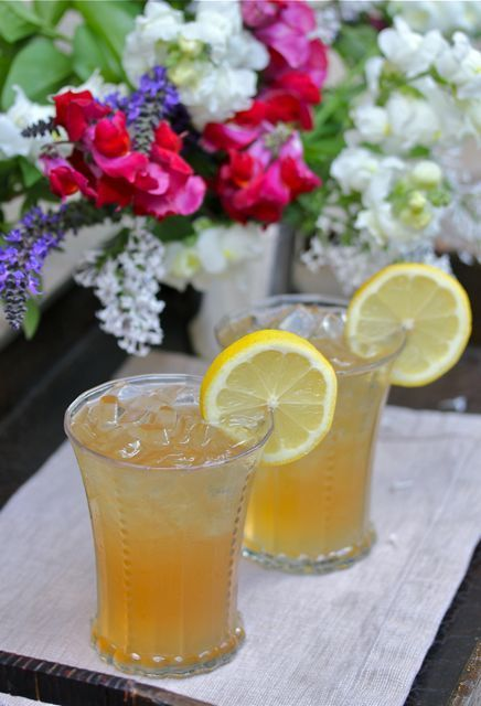 """The """"Arnold Palmer.""""  Half sweet tea and half lemonade.   The perfect drink to sip while watching the Masters."""