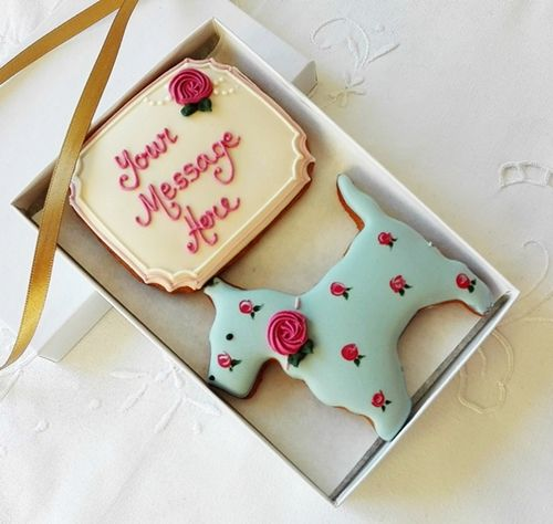 Personalised Scottie Biscuit Gift Box  Personalised Dog Shaped Cookies, Perfect gift for dog lovers