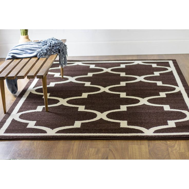 Transitional Rug Brown High Quality Carpet Polypropylene  #carpet #floors #instahome #floorcoverings #decorating #decor #homeideas #interiorstyling #homeaccents #fab