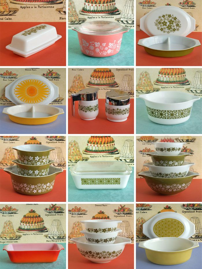 pyrex.. I think I had most of these! at least the green/white ones.