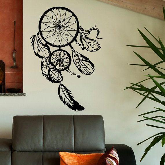 Unique Boho Dreamcatcher Wall Decal- Large Dream Catcher ...