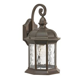 Kichler Lighting Brunswick 16.06-in H Olde Bronze Outdoor Wall Light -- we r using this on our ...