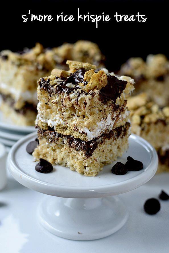 S'more Rice Krispie Treats | iowagirleats.com