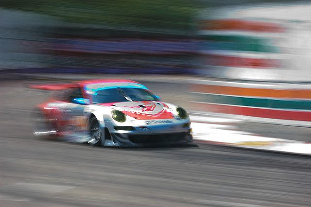 ALMS Acura Sports Car Challenge of St. Petersburg 2009 | Flying Lizard Porsche 911 GT3 RSR by Old Boone on Flickr.