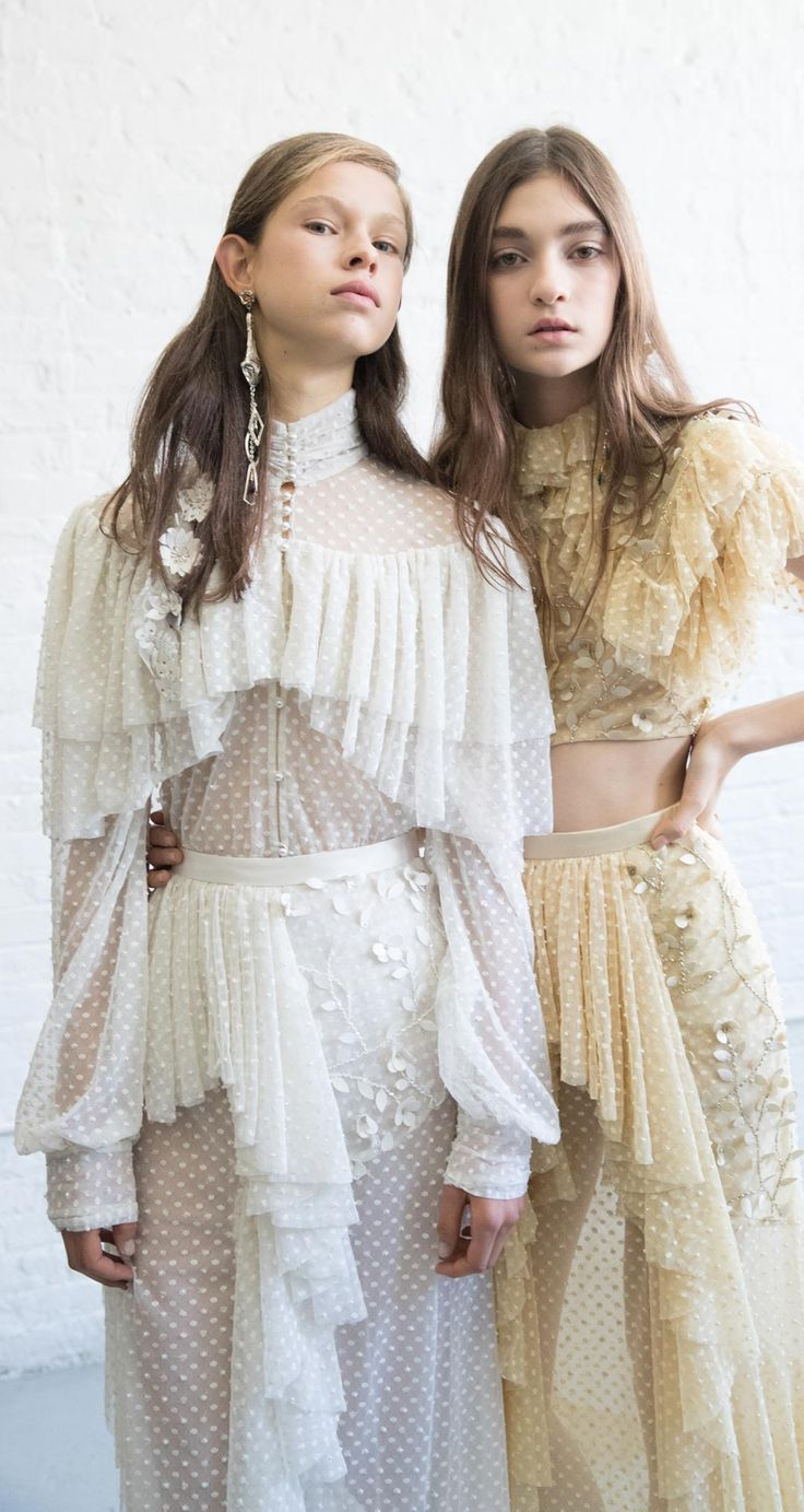 (Rodarte Spring Summer 2017). Whether it's their eco-conscious headquarters or their usage of non-toxic dyes, sisters Laura and Kate Mulleavy are committed to implementing environmentally friendly practices at their luxury brand Rodarte.