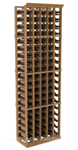 "Five Star Series: 5 Column 95 Bottle Standard Wine Cellar Rack in Redwood with Oak Stain +Satin Finish by Wine Racks America®. $457.98. 11/16"" wood thickness. Designed for 750ml wine bottles. Some assembly required .. Money Back Guarantee + Lifetime Warranty. Choose From either Pine, Redwood, or Mahogany along with optional Industry Leading Quality Eco-Friendly Stains Paired with an Immaculate Satin Finish. Each have custom finishes and are professionally stained to order, so ..."