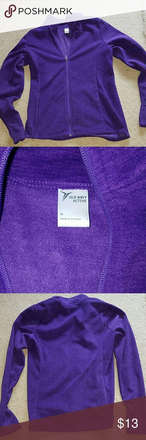 Purple Zip up sweatshirt Medium Old Navy Tops Sweatshirts & Hoodies