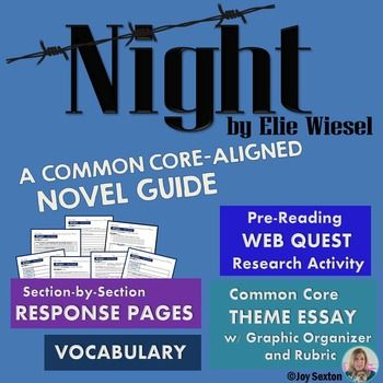 anticipation guide for night by elie wiesel