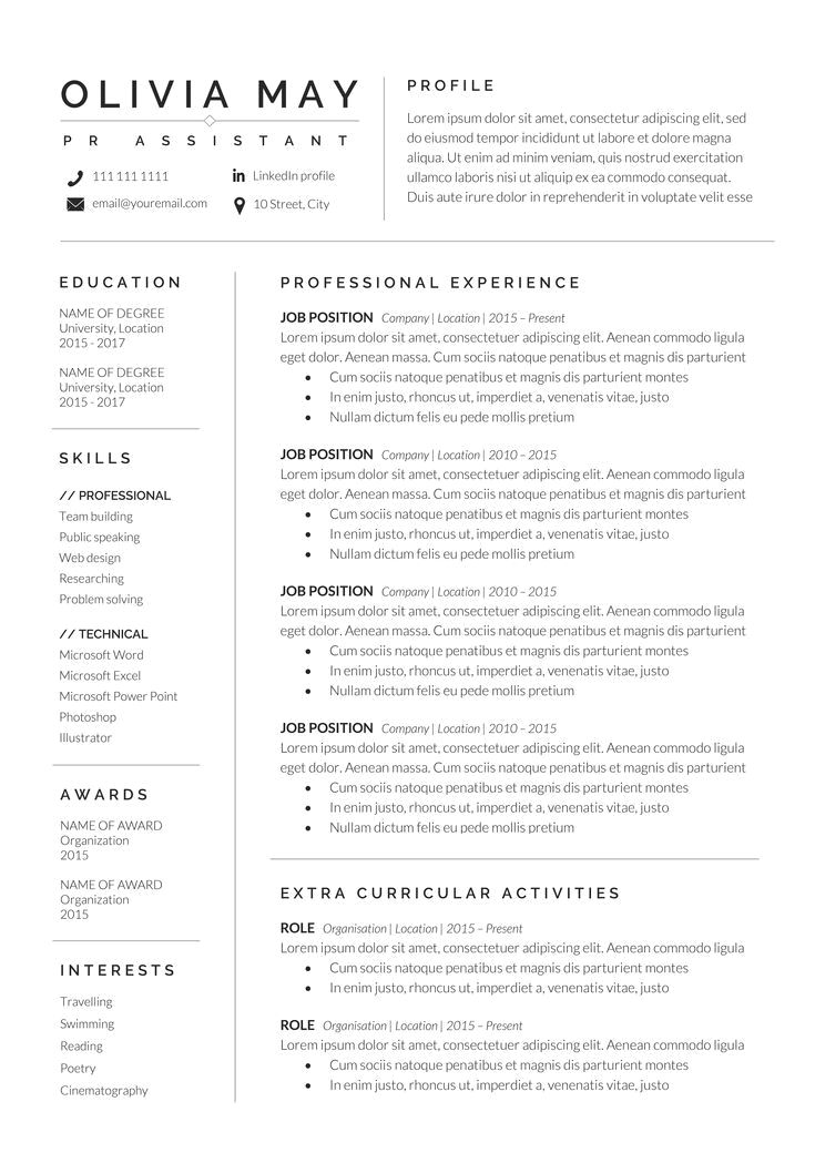 Resume Example With Headshot Photo Cover Letter 1 Page Word Resume Design Diy Cv Example In 2020 Resume Examples Good Resume Examples Resume Template Word
