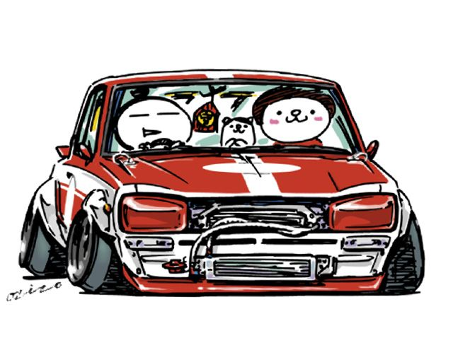 ozizo art show | 車の絵, 変な車, 車 イラスト
