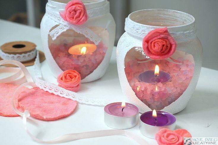 Lampion ze słoika pachnący i od serca idealny prezent DIY