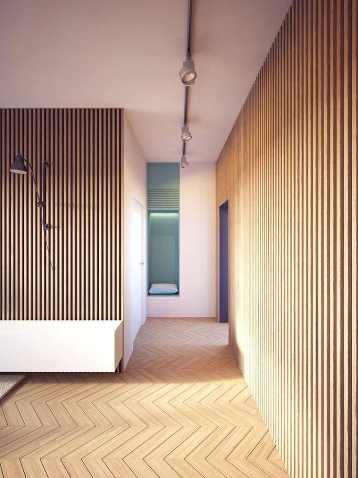 Moderne Holztafelung Moderne Wohnung Wandgestaltung Holz