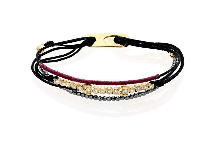 Βραχιόλι με λευκά cz από κίτρινο επιχρυσωμένο ασήμι 925.  Bracelet with white cz made by yellow gold-plated silver 925. Price : 105 €