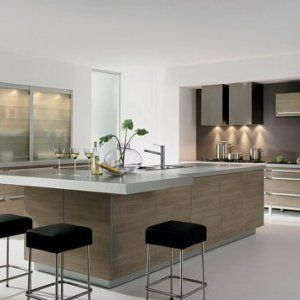 clean and contemporary modern kitchen designs 2016 with wooden cabinets