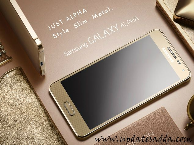 Samsung Galaxy Alpha Metal Frame With 4.7 inch display Launched