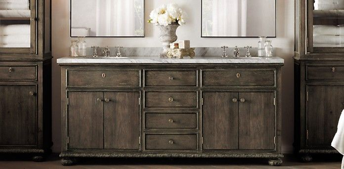 Bathroom collections restoration hardware french empire for Restoration hardware bathroom cabinets
