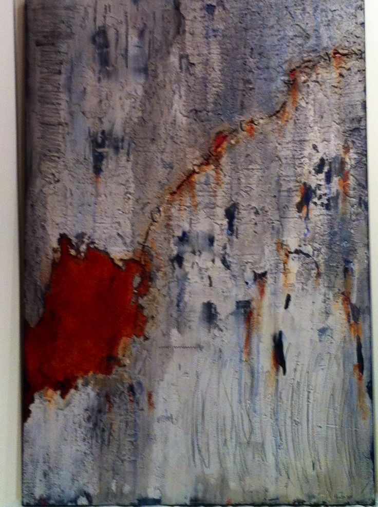 """""""ROUGH PATCH"""" by Fontaine,  mixed media abstract"""