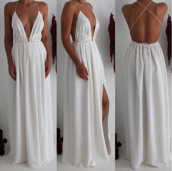 explore white maxi dresses