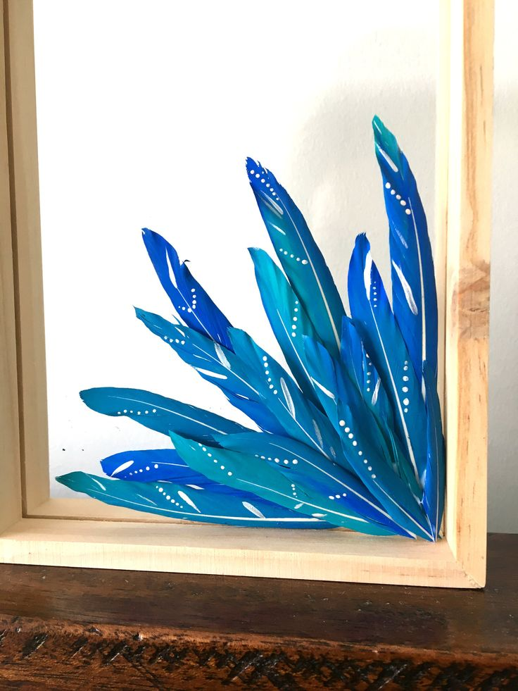 Excited to share the latest addition to my #etsy shop: Hand painted feather bouquet - Glass mounted feathers - Painted feather art - Boho gift - Teacher gift - Feather art - Housewarming gift http://etsy.me/2iX1Nta #housewares #homedecor #blue #birthday #christmas #white #en
