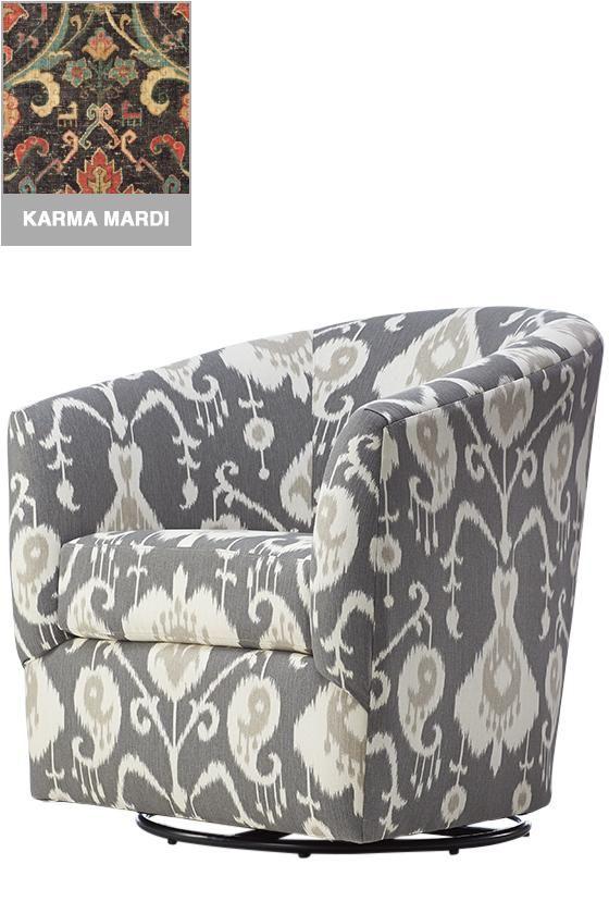 Custom Colin Upholstered Swivel Chair