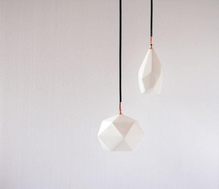 Unique ceramic lamps. By Diamantina & La Perla. www.facebook.com/diamantinaylaperla