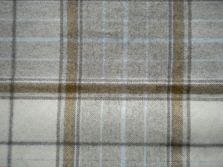 Heavy Grey Wool Tartan Fabric  Stunning Tartan Fabric wool mix.  Suitable for cushions and upholstery