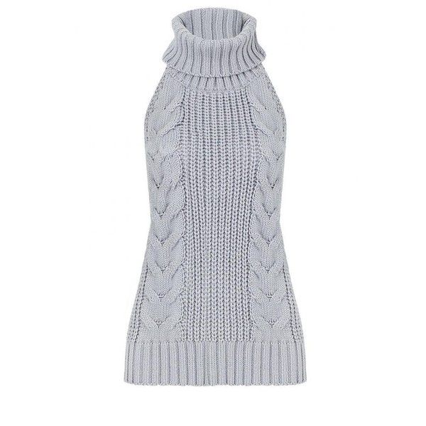 Yoins Yoins Sleeveless Turtleneck Sweater ($18) ❤ liked on Polyvore featuring tops, sweaters, grey, shirts & tops, sleeveless sweater, grey turtleneck, turtleneck shirt, sexy sweaters and grey turtleneck sweater
