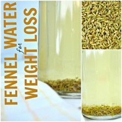 Drinking Fennel Seed Water for Weight Loss