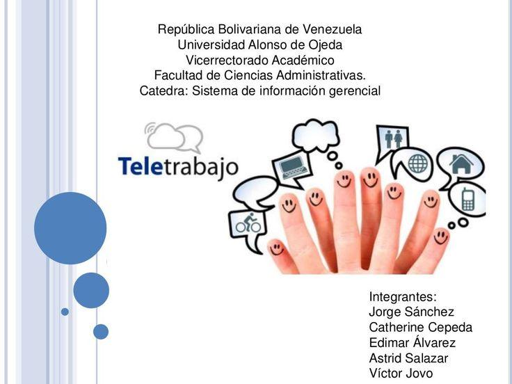 El teletrabajo en Venezuela by catherine cepeda via slideshare