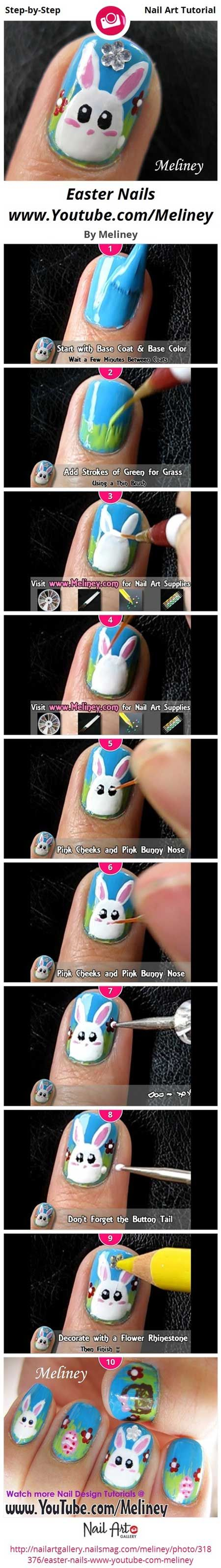 Easter Nails - Step-by-Step Tutorial