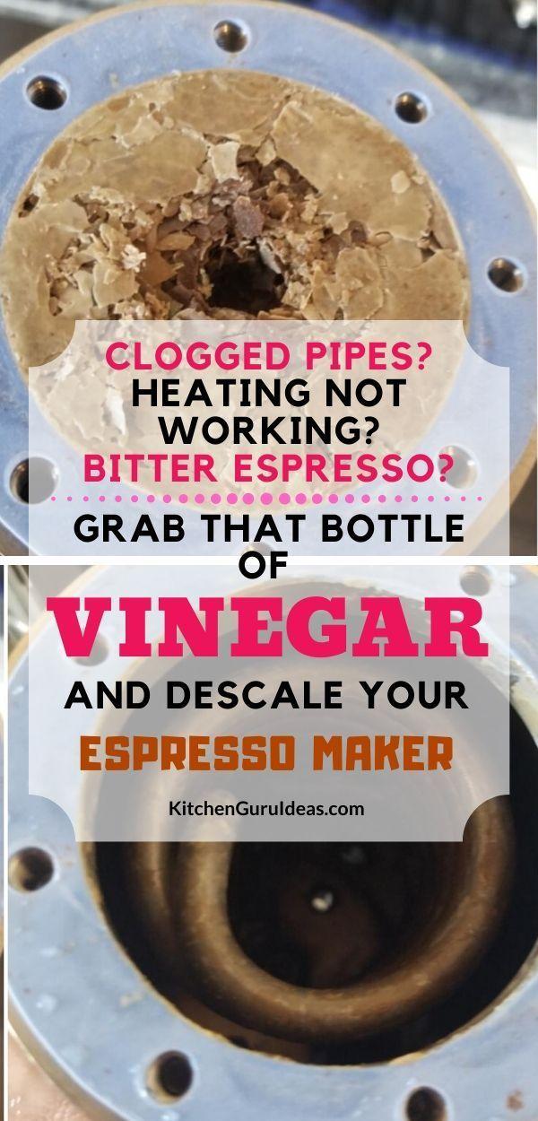 Descale Your Espresso Machine With Vinegar In 6 Quick Steps In 2020 Best Home Espresso Machine Food Truck Design Espresso Machine