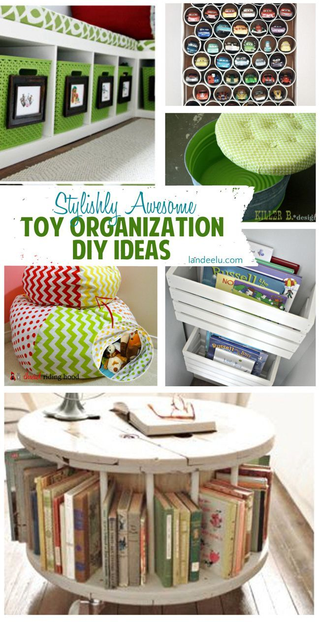 Toy Organization Ideas that are Stylishly Awesome! Great ways to keep the kids organized!