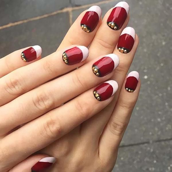 187 best christmas nails images on pinterest christmas for Fiestas elegantes decoracion