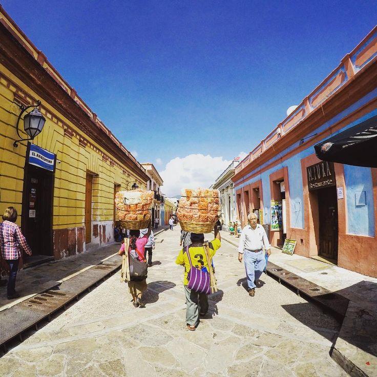 Street vendors in San Christobel La Casas, Mexico