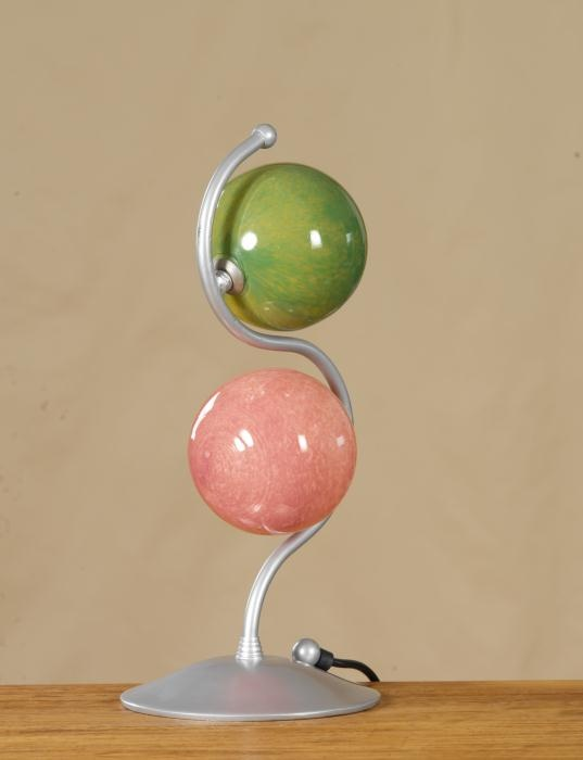 Series Balloons. Wrought Iron with Blown Glass details.