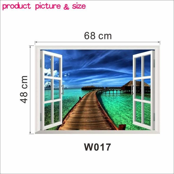 3D Removable Fantastic Beach Vacation Wall Art Stickers - Simply Adore