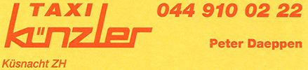 Künzler Taxi GmbH, Behindertentransport, Küsnacht, Taxi, Autovermietung, Limousinenservice, Zürich
