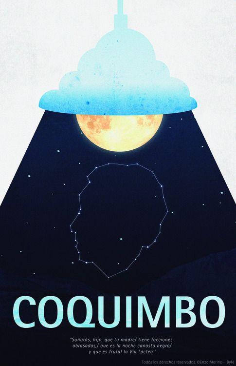 Afiche / Poster Coquimbo, Gabriela Mistral
