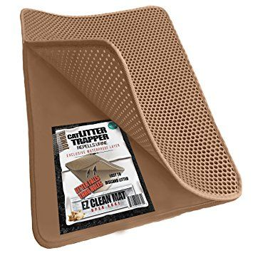 JUMBO SIZE Size Cat Litter Trapper – EZ Clean (Dark Gray and Brown Color) – 32 inches by 30 inches SUPER BIG. Water Proof Layer and Puppy Pad Option. … Review 2017